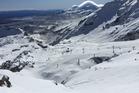 Around 4600 skiers and snowboarders visited Whakapapa on Mt Ruapehu. Photo / Martin Johnston