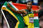 South Africa's Caster Semenya reacts after finishing in second place in the women's 800-metre final at the 2012 Summer Olympics in London. Photo / AP