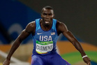 United States' Kerron Clement competes in a men's 400-metre hurdles semifinal during the 2016 Summer Olympics. Photo / AP