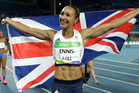 Britain's Jessica Ennis-Hill celebrates after winning the silver medal in the heptathlon at the 2016 Rio Olympics. Photo / AP