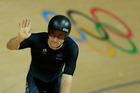 New Zealand omnium cyclist Dylan Kennett took home a maximum 40 points from the 1000m time trial race this morning. Photo / AP