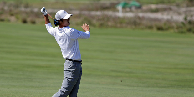 Danny Lee completed the men's Olympic golf event with a round of 69 to finish well out of the medals. Photo / AP