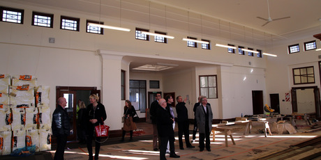 Whanganui District councillors take a tour of the refurbished Alexander Research and Heritage Library. Photo/ Stuart Munro