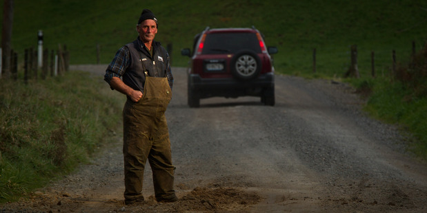 Hamurana farmer Rob Marshall is not at all happy with the state of rural roads in his area. He is not alone with farmers from other areas also unhappy.
