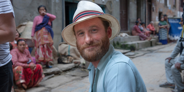 Dean O'Gorman on the set of Hillary in Nepal. Photo / Dean O'Gorman