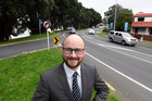 Steve Morris and the notorious congestion areas of Tauranga - 15th Ave and Turret Road. If elected as mayor, Mr Morris promises to four-lane the area. Photo/George Novak