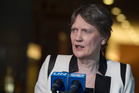 Helen Clark has confirmed she intends to remain in the race at least until the next straw poll on August 29. Photo / UN
