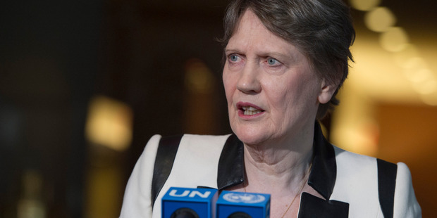 Loading Helen Clark has confirmed she intends to remain in the race at least until the next straw poll on August 29. Photo / UN