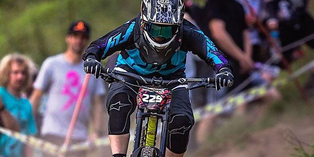 WORLD CLASS: Papamoa mountain biker Shania Rawson in action at Crankworx in Rotorua earlier this year. PHOTO/Clint Trahan 130816sp20BOP