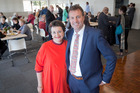 Tauranga Deputy Mayor Kelvin Clout with wife Kathryn at the launch of his bid to become mayor. Photo/Andrew Warner