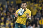 Israel Folau brings the spark to an earnest Australian backline. Photo / Photosport