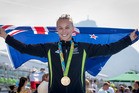 Lisa Carrington claimed gold in the women's K1 200m at Lagoa Stadium. Photo / photosport.nz