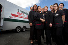 LIFE SAVERS: Amanda Brodie (centre front) with her crew of nurses enjoy helping people. PHOTO/BEN FRASER
