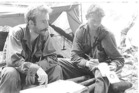NZ Army platoon commander Chris Mullane (left) and radio operator Private G.J. 'White Trash' Murphy' in Vietnam. Photo / Supplied