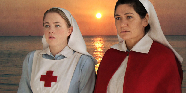 Anthea Hill (left) and Nicola Kawana star in Sister Anzac.