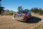Rotorua driver Sloan Cox in his Taslo Engineering Mitsubishi Evo X. Photo/ Jason Bryne A Little Bit Sideways