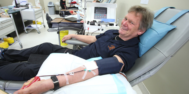 Malcom George has been donating blood since he was 17-years-old. Photo/John Borren