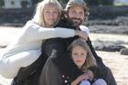 Pictured are Bill Shearer, Ella Shearer aged 9 and Natalie Shearer. Photo / Doug Sherring