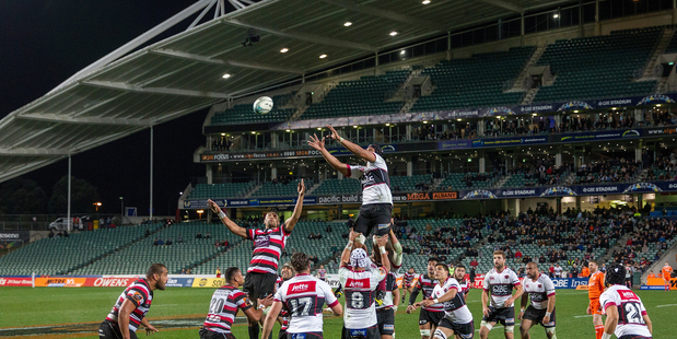 POSITIVE START: The new rules in play for this year's Mitre 10 Cup were used for the first time on Thursday between North Harbour and Counties Manukau. PHOTO/PHOTOSPORT