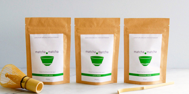 Matcha is green tea leaves crushed into a fine, electric green powder. Photo / Supplied
