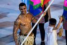 Tongan taekwondo champ Pita Taufatofua led his team in the Grand Opening of the Rio Olympic Summer Games 2016. PHOTO/SUPPLIED