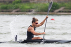 FILE - In this Aug. 10, 2014, file photo, winner Lisa Carrington of New Zealand competes at the K1 women 200m final of the ICF Canoe Sprint World Championships. Photo / AP.