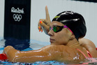 Russia's Yulia Efimova celebrates winning a semifinal of the women's 100m breaststroke. Photo / AP