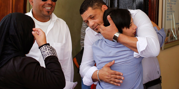 Morne and Celeste Nurse, right, the biological parents of the South African born kidnapped child Zephany Nurse. Photo / AP
