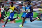 United States sprinter Justin Gatlin missed out on a spot in the 200m final. Photo / AP