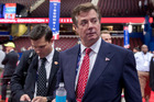 Paul Manafort, who was brought in to lead Donald Trump's campaign in March, tried to gain positive press coverage in the US of Ukrainian officials. Photo / AP
