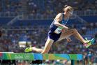 Evan Jager competes in the men's 3000-meter steeplechase final. Photo / AP