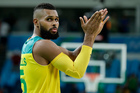 Australia's Patty Mills reacts to fans after a quarterfinal round basketball game against Lithuania at the 2016 Summer Olympics in Rio de Janeiro. Photo / AP.
