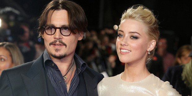 Johnny Depp and Amber Heard arrive for the European premiere of their film The Rum Diary.