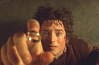 Elijah Wood portrays Hobbit Frodo in a scene from the film The Lord of The Rings The Fellowship of The Ring.