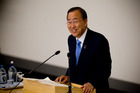 UN Secretary General Ban ki Moon. Photo / Dean Purcell