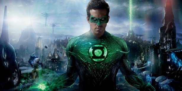 A scene from the movie, Green Lantern.
