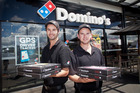 Kaedyn Stops (21, left) and Liam Stops (20) own a Domino's store in Rotorua. Domino's has reported big market share gains. Photo / Daily Post