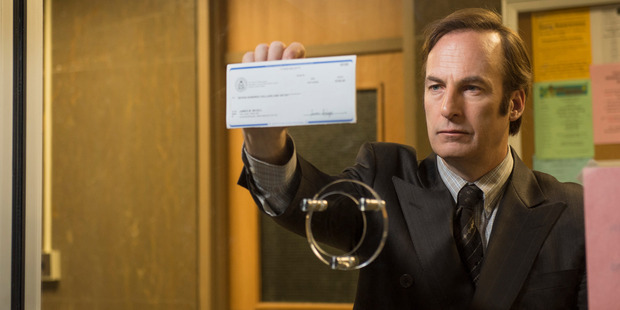 Bob Odenkirk as Saul Goodman in a scene from Better Call Saul.