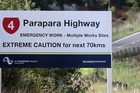 State Highway 4 - the Parapara - will be closed  during the day Saturday, Sunday and Monday.