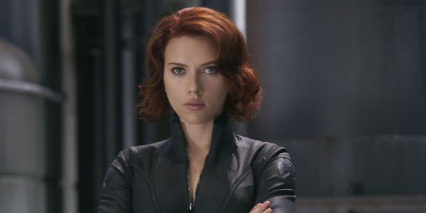 Scarlett Johansson plays Black Widow in The Avengers movies.