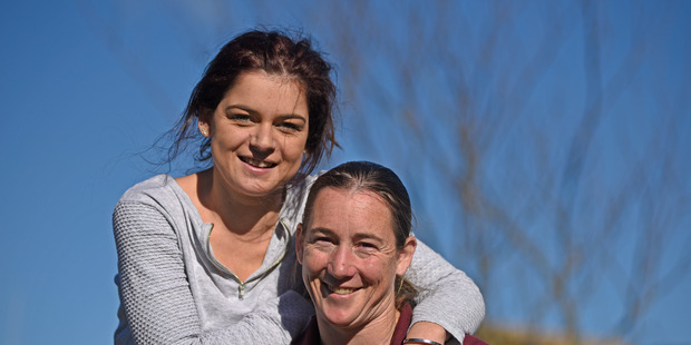 Nikki Reynolds-Wilson (L) and Kristie Purton together are Tauranga's cystic sisters. Photo/File