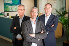 Oriens Capital leadership team (from left) Peter Tinholt, chief operations officer, James Beale, chief executive, and David Bell, chief financial officer. Photo/Andrew Warner