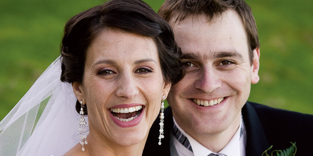 Lecretia Seales with her husband Matt Vickers on their wedding day, April 2006. Photo / Supplied