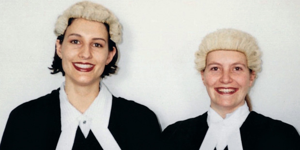 Lecretia Seales' bar admission with her friend Helen Spellacey. Photo / Supplied