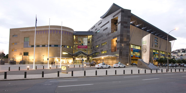 Te Papa museum was flooded after the sprinklers were set off. Photo / Mark Mitchell