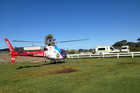 The TECT helicopter flew the baby to Tauranga Hospital. Photo / Supplied