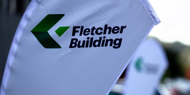 Fletcher Building rose 2.2 per cent to $10.38, adding to Wednesday's 4.9 per cent gain. Photo / Steven McNicholl