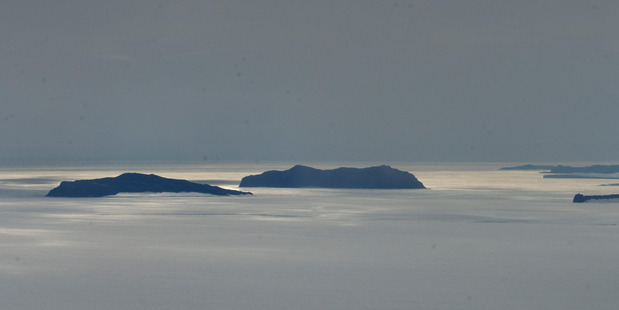 General view from Castle Rock on Ross Island looking out at islands surrounded by sea ice not far from Scott Base. Photo / Alan Gibson