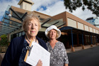 Rosemary Michie (left) and Anita Stanley put together a petition against the council's plans to build a new children's health hub and combined library facility.