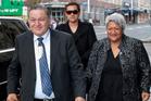 Maori King Tuheitia Paki and his wife Te Atawhai. Photo / Greg Bowker